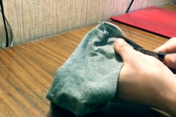 Прорезание в носке