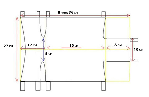 Замеры для попона среднего размера
